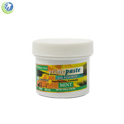 Dental Prophy Paste with Fluoride for Prophylaxis Medium Grit Mint Flavor 100g