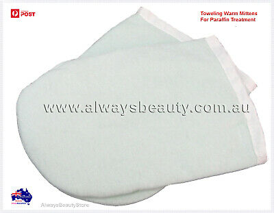 Towelling Mitten For Paraffin Wax Hand Warming Treatment Deluxe Spa Mitt OZ Sale