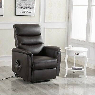 Magnificent Merax Power Lift Chair Recliner Black Pu Leather Lift Gmtry Best Dining Table And Chair Ideas Images Gmtryco