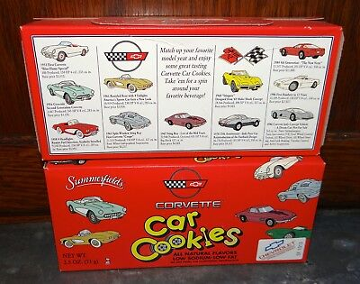 Lot 2 Boxes Vintage Summerfield's Corvette Car Cookies (Like Animal Crackers)