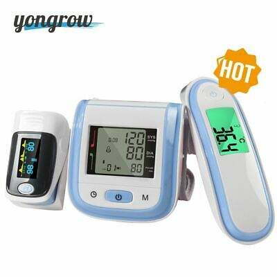 Digital Fingertip Pulse Wrist Blood Pressure Monitor Ear Infrared Thermometer Fa