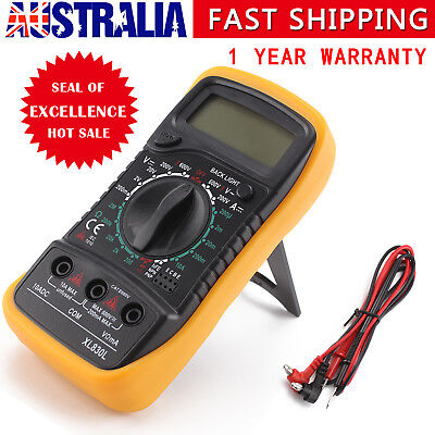Electrical LCD Digital Multimeter Ohmmeter Multi OHM Tester AC DC Voltmeter OZ