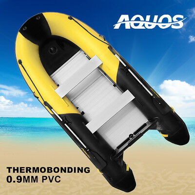 AQUOS Yellow&Black 0.9mmPVC 3.3m Inflatable Boat Fishing Boat Tender Dinghy Raft