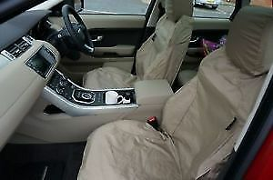 Black 94-02 Heavy Duty Waterproof Fitted Front Seat Cover Pair Range Rover p38