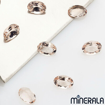 [WHOLESALE] NATURAL MORGANITE PEACH COLOR LOOSE GEMSTONES OVAL SHAPE 5x7mm