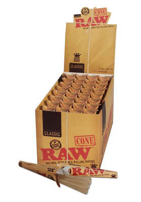 32 Raw Classic Pre-Rolled Cones Full Box