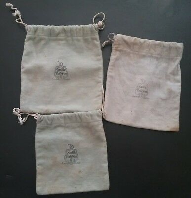 Antique Vintage Smith Patterson Co. Drawstring Silver Jewelry Bags RARE!