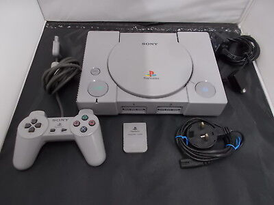 PS1 Playstation 1 Grey Pal COMPUTER CONSOLE (16)SCPH-5552