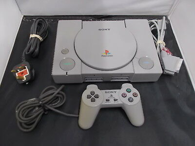PS1 Playstation 1 Grey Pal COMPUTER CONSOLE (27)SCPH-1002