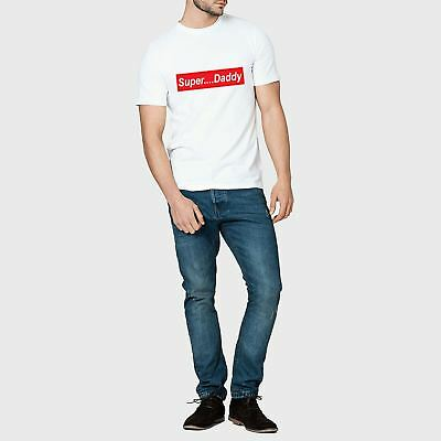 New Mens Fathers Day Super Daddy T-Shirt Supreme Inspired Cool Dad Tee Top Gift