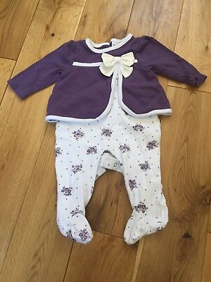 Piper And Posie Baby Girl 0 3 Babygrow Outfit Occasion 4 99