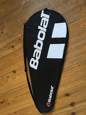 Babolat Tennis Racket Cover Dark Detail, Black With Strap. Suitable for Any.