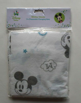 Pack of 3 Mickey Mouse Baby Travel Changing Mats Folding Waterproof Soft Unisex