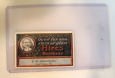 Antique Circa 1900 Advertising Hires Root Beer Ugly Kid Coupon Cape Cottage Mass