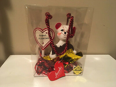 "Annalee 2003 Sweet Nibble Mouse 6"" Valentine Love Chocolate  Plush"