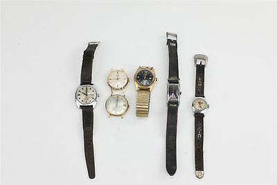 Lot of 6 x Vintage HAND-WIND&AUTOMATIC Wrist Watches SPARES&REPAIRS