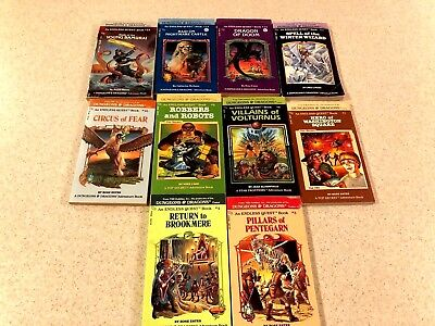Lot of 10 Vintage 1980s Dungeons and Dragons Endless Quest Adventure Books NICE!