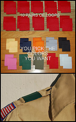 LOT of 10 Pairs  BSA Boy Cub Scout Uniform Shoulder Loops Epaulet   ANY COLOR!!