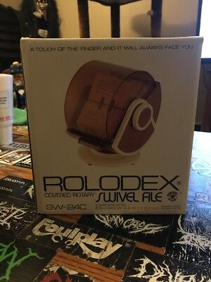 Rolodex Covered Rotary Swivel File Black SW-24C New In Box