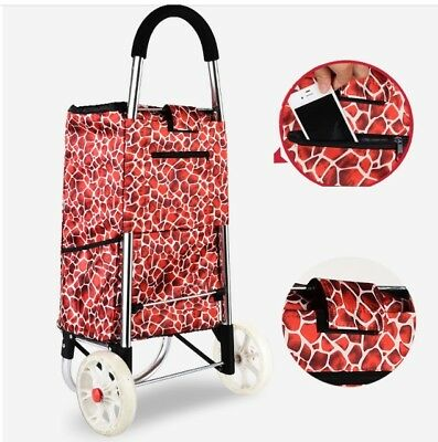 D76 Rugged Aluminium Luggage Trolley Hand Truck Folding Foldable Shopping Cart