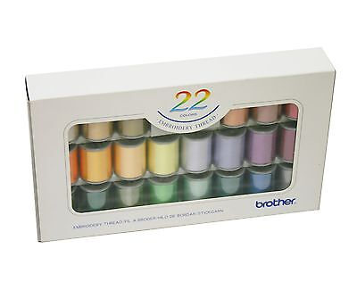 22 GENUINE BROTHER EMBROIDERY MACHINE THREADS:ETS-22N XC5516002 (1st Class Post)