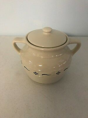 Longaberger Woven Traditions Heritage Green Cookie Jar - Bean Pot - Crock  USA