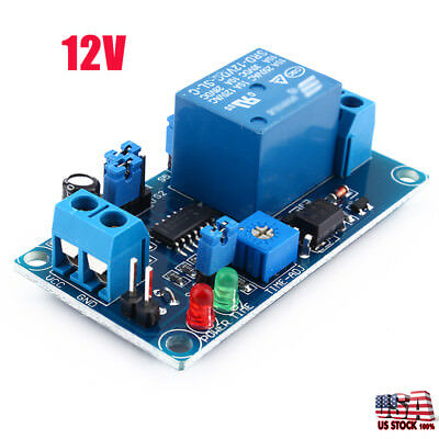 1-10X DC 12V Infinite Cycle Delay Timing Timer Relay ON OFF Switch Loop Module