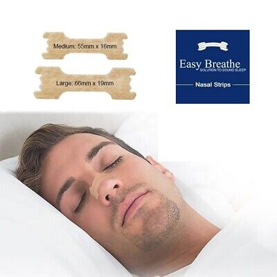 200 Easy Breath Nasal Strips Sm/med Or Large Tan Right Aid To Stop Snoring Uk
