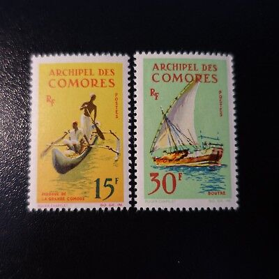 France Colonie Comores N°33/34 Neuf Sans Gomme