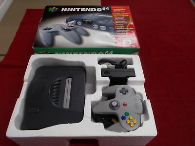 N64 Nintendo 64 Black Pal COMPUTER CONSOLE with Box Instructions