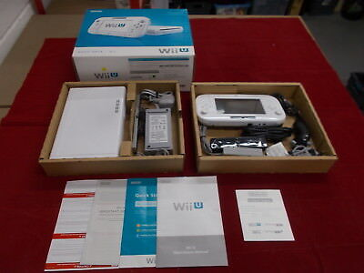 Nintendo Wii U White Pal COMPUTER CONSOLE with Box Instructions Fully Complete