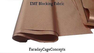 "EMF RFID RF Shielding Copper Fabric Roll - 43"" x 3' (3 Feet) of Material"