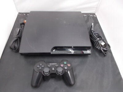PS3 Playstation 3 Black Slim Pal COMPUTER CONSOLE (40)
