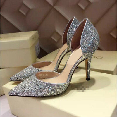 Women Sexy Evening Party Stiletto  High Heels Bling Pumps Wedding Shoes Sz