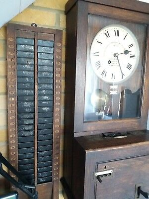Reduced For Quick Sale-Gledhill- Brook Clocking In Clock + Card Rack