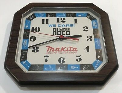 Vintage Makita Power Tool Clock Advertising Hardware Store
