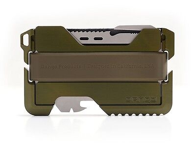 Dango Tactical EDC Wallet (Made in USA)- Limited OD Green, Multitool, RFID Block