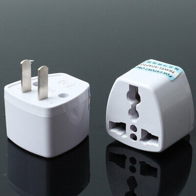 2 Pcs Universal EU UK AU to US USA AC Travel Power Plug Adapter Outlet Converter
