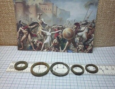 5 pcs.Perfect Ancient Celtic Bronze Ring Proto Money 600-400BC Old Pre-Coin #209