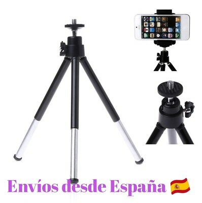 Mini Tripode Para Camara + Soporte Movil Iphone Samsung Htc Huawei Universal