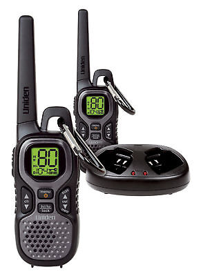 Uniden Uh506Sx-2Nb 0.7W Twin Uhf Handheld Radios Rugged Pack  80 Channel Monitor