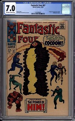 Fantastic Four 67 CGC Graded 7.0 FN/VF 1st Appearance Him (Warlock) Marvel 1967