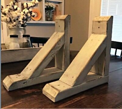 Rustic Country Corbels Set Of 2. Custom Made. Multiple Colors Available.
