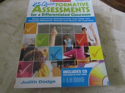 25 Quick Formative Assessments for a Differentiated Classroom: Easy, Low-