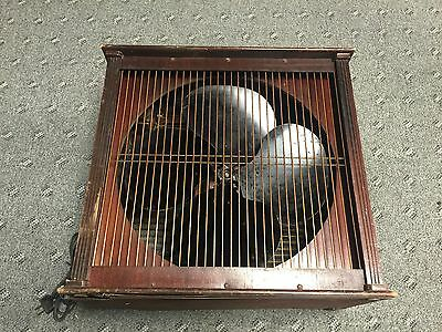 """40-50's Emerson Electric 16"""" Variable Speed Box Fan Type 93648-AA Works Great!"""