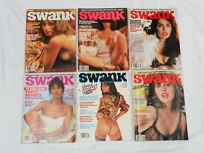 lot of 6 Vintage Swank Magazines For Men lot #1, 1979 - 1981