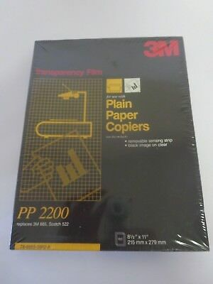 "NEW 3M Transparency Film For Copiers 100 Sheets 8.5"" x 11"" PP2200   V-2 Sealed"