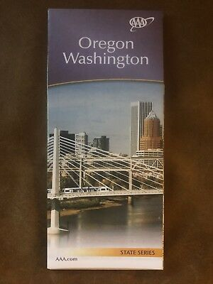 AAA OREGON WASHINGTON Travel Road Map US State Series Roadmap 2017-2018