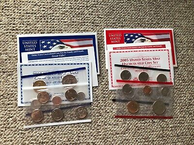 2003 D and P United States Uncirculated Mint Coin Set in Envelopes