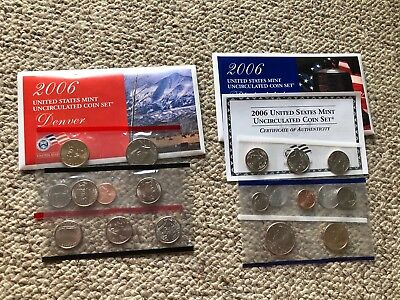 2006 D and P United States Uncirculated Mint Coin Set in Envelopes